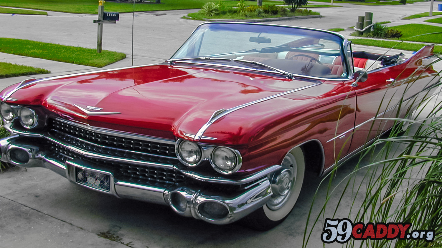 Red 1959 Cadillac Convertible 1959 Red Cadillac Convertible